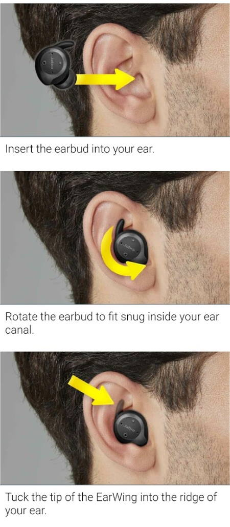 How to wear Jabra Elite Sport properly?