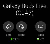 Check Galaxy Buds Live battery level