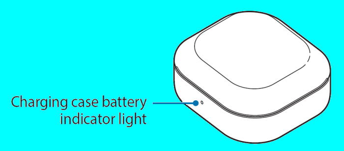 Galaxy Buds Live charging case battery indicator